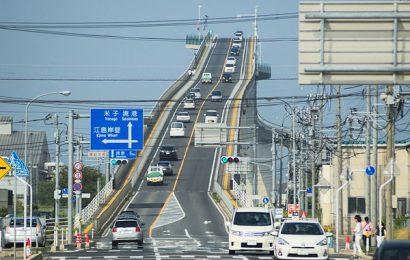 [新聞]日本坡度最高的橋,日本江島大橋